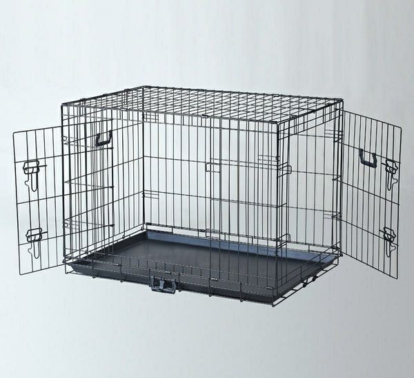 New in box 36x23x25 inches tall 2 doors foldable dog cage crate kennel for pet up to 70 lbs