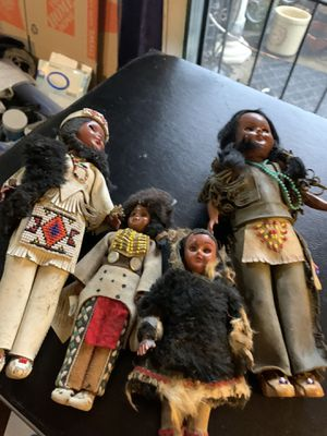 4 Antique Indian dolls by Carlson for Sale in Garden Grove, CA