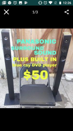 Panasonic Surround sound with built-in Blu Ray player works great for Sale in Stockton, CA