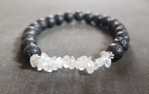NATURAL stone- Moonstone Lava Rock Oil Essential Bracelet(healing,reduce stress,calm emotions,Success in Love & Business,Health benefits-see photos) for Sale in West Covina, CA