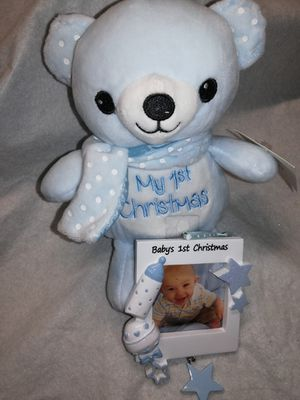 Babies first Christmas plush and frame new for Sale in Denver, CO