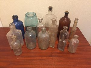 Verity of Antique Glass Bottles + 50 Out of photo for Sale in Gresham, OR