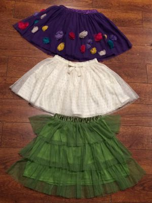 3 tutu skirts sz 7-12 for Sale in Los Angeles, CA