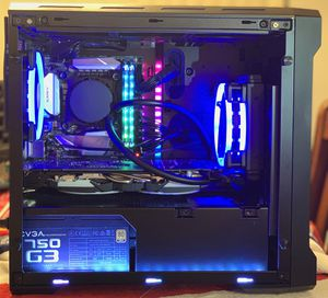 Custom Gaming Computer with Intel 8086k 4.8Ghz, 1070 GTX, 256GB NvME/2TB HDD, 99th percentile! for Sale in Sunrise, FL