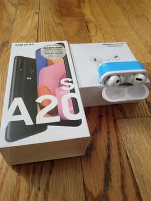 SAMSUNG GALAXY A20S / WIRELESS AIRPODS for Sale in New York, NY