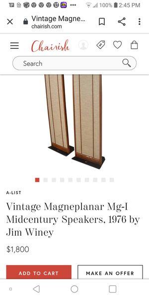 Manaplanar loudspeakers for Sale in Bristol, VA