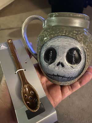 Disney Nightmare Before Christmas Mug and Spoon Halloween Set SHIPS NOW for Sale in Grand Terrace, CA