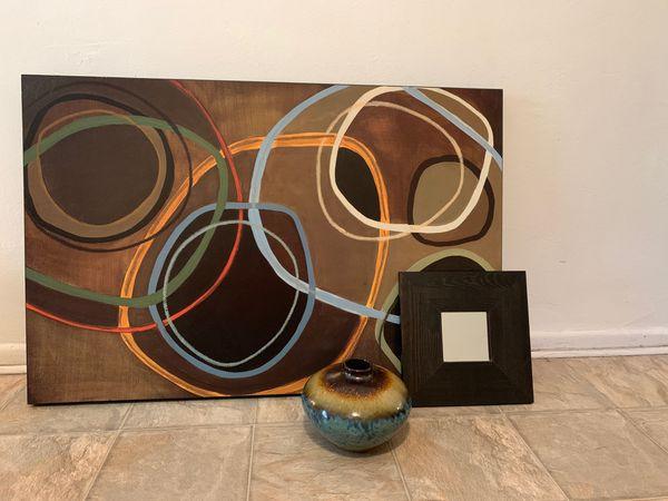Wall art and vase Decor set