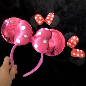 Pink Sequin Minnie Mouse Ear Headband Disney for Sale in Montebello, CA