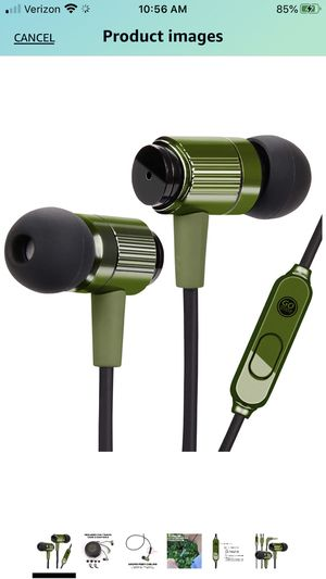 GOgroove AudiOHM RNF Durable Earbuds - Heavy Duty Headphones with Thick Aramid Fiber Reinforced Cable, In-Line Microphone, In-Ear Noise Isolation & R for Sale in Redlands, CA