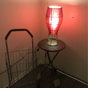 Lamp And Desk Shopping wheel- for Sale in Irvine, CA