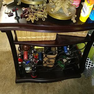 Dark wood cabinet that can hold 20 bottles of wine for Sale in PT CHARLOTTE, FL