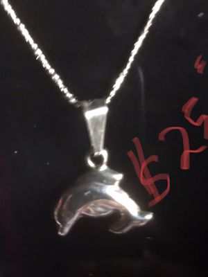 Chain with dolphin is really silver 925 size 12 guaranteed area San Ysidro only $25 dlls obo for Sale in San Diego, CA