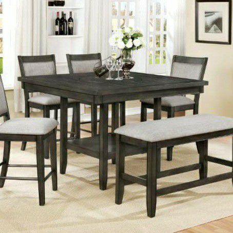 $39 DOWN /Fulton Gray Counter Height Set