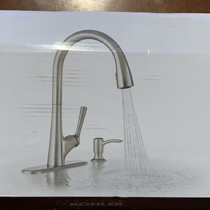 $225.00 Retail Kohler Elmbrook R22968-SD-VS kitchen faucet for Sale in Atlanta, GA