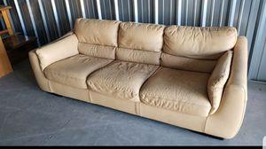 Natuzzi Italian Leather Sofa Tan for Sale in Surprise, AZ
