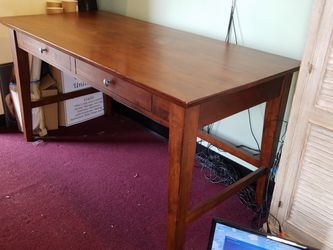 Wood Desk With Two Drawers for Sale in Seattle,  WA