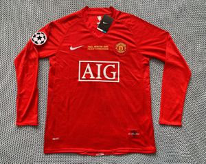 Cristiano Ronaldo #7 Manchester United - Brand New Men's Red Champions League Final 2008 Retro Vintage Long Sleeve Soccer Jersey - Size M / L / XL for Sale in Chicago, IL