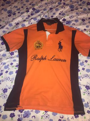 Orange Ralph Lauren polo shirt for Sale in Fort Lauderdale, FL