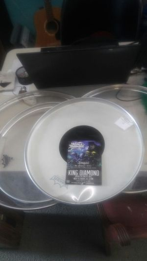 King diamond. Band. Remo drum heads. Set of 4. for Sale in San Diego, CA