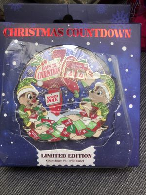 Chip and Dale Christmas Countdown Pin for Sale in La Verne, CA