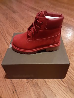 *BRAND NEW IN BOX*TIMBERLAND BOOTS*RED*TODDLER SIZE7*$75 O.B.O.* for Sale in San Leandro, CA