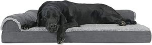 Furhaven Pet - Plush Orthopedic Sofa, L-Shaped Chaise Couch, Ergonomic Contour Mattress, & Long Faux Fur Calming Donut Dog Bed for Dogs & Cats - Multi for Sale in Tinley Park, IL