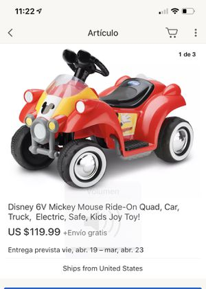 Mickey mouse ride on Quad car electric for Sale in Gaithersburg, MD
