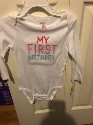 New 18 month my first birthday long sleeve onesie for Sale in Warren, MI
