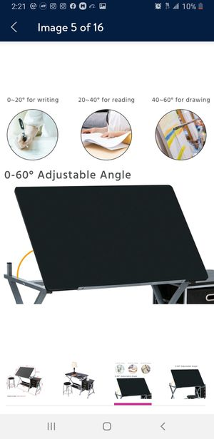 Adjust able drafting table with stool for Sale in Corona, CA