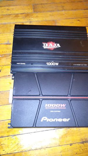 Two 1000w amps for sale for Sale in St. Louis, MO