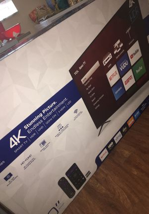 50 inch Brand New Never Opened 4K TCL Roku Smart TV for Sale in Boca Raton, FL