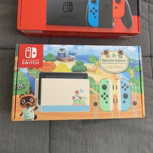Nintendo - Switch - Animal Crossing: New Horizons Edition 32GB Console - Multi for Sale in Miami, FL
