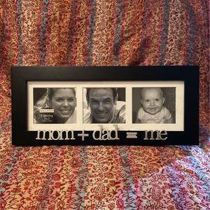 Malden international Designs, mom+dad=me, Black Picture Frame for Sale in Gloucester, VA