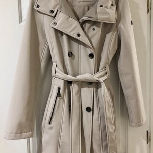 Size l Calvin Klein Taupe Double-Breasted Hooded Trench for Sale in Ashburn, VA