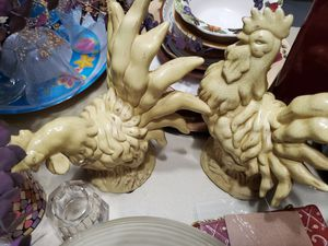 Decorative yellow roosters for Sale in Matawan, NJ