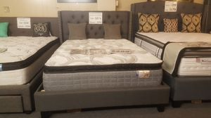 Brand new gray linen studded queen bed frame for Sale in San Diego, CA