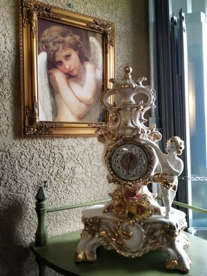 Antique porcelain capodimonte clock for Sale in Miami, FL