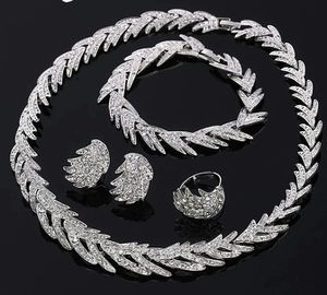 4 pcs set necklace earrings adjustable ring bracelet for Sale in Staten Island, NY