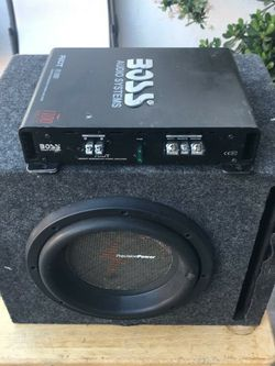 10 Inch Ppi And Bosss Amp for Sale in Hayward,  CA