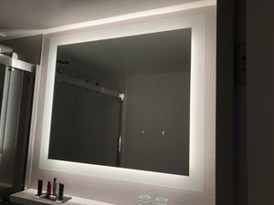 custom surface mounted mirror forte lighted design silver mirror for Sale in San Francisco, CA