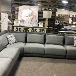 Dimensional Light/ Dark Grey Modular Sectional! TAKE HOME TODAY W/ $40 DOWN! for Sale in Nashville, TN