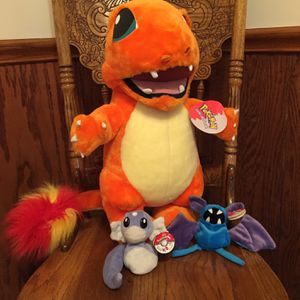 Vintage Pokémon Stuffed Charmander Plus Two Others for Sale in Elyria, OH