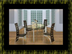 Glass dining table with 4 chairs for Sale in Oxon Hill, MD