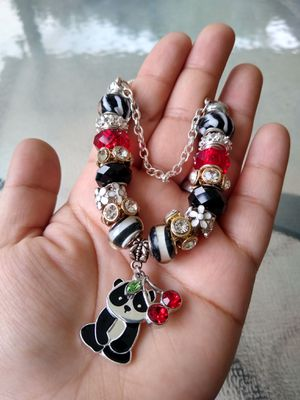 Panda and cherries Pandora STYLE charm bracelet for Sale in Spring, TX
