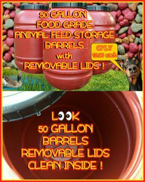 💥FOOD GRADE💥 50 GALLON PLASTIC BARRELS 💥WITH 💥REMOVABLE LIDS💥 for Sale in Goldsboro, NC