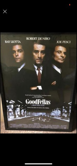 Good Fellas movie poster framed for Sale in Eden Prairie, MN