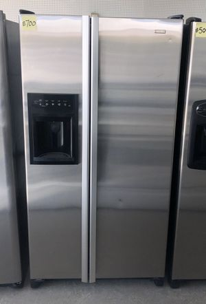 Comes with free 6 Months Warranty-counter-depth side by side stainless steel refrigerator JennAir for Sale in Warren, MI