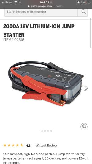 2000a 12v lithium-ion jump starter for Sale in Washington, DC