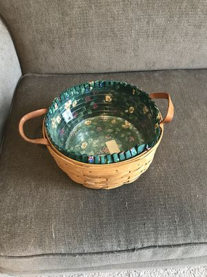 1996 longaberger darning basket liner and protector for Sale in Burleson, TX